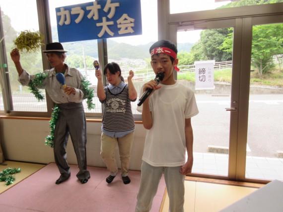 某球団応援歌を日本一ハチマキをつけて熱唱!!