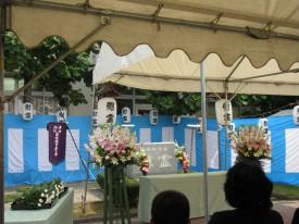 広瀬小学校に設置されている慰霊碑