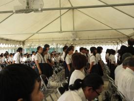 式典に参加した広瀬小学校3年生以上の生徒のみなさん